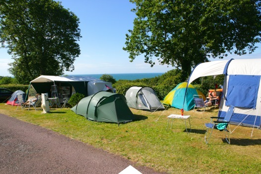 camping pitches with sea view in Normandy