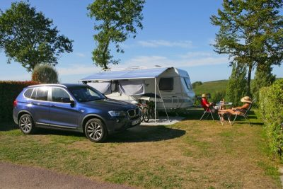Large camping pitches Normandy