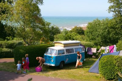 Camping pitches Normandy sea view