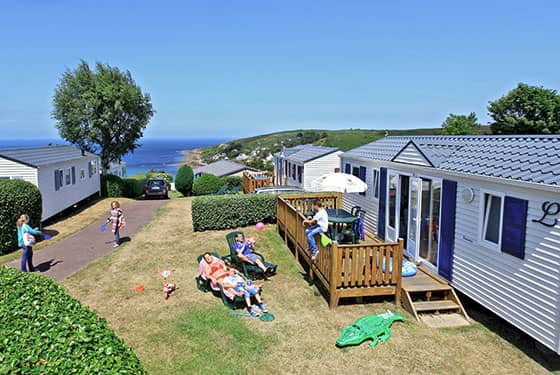 Mobile home with partial see view in Cotentin France