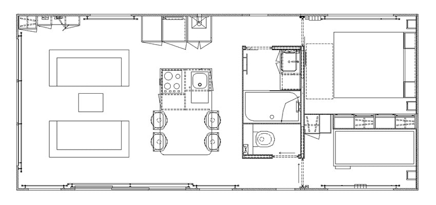Plan du Cottage Premium