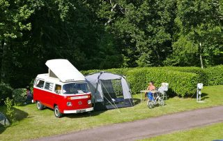Camping pitch with electricity in Normandy