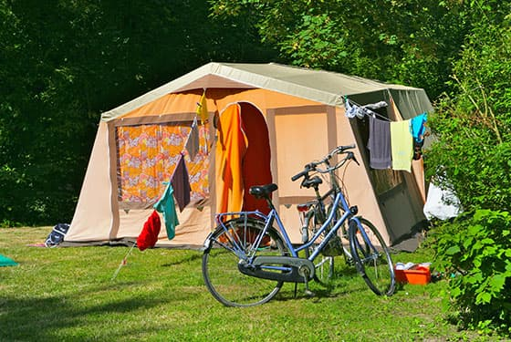 Low price camping pitch in France