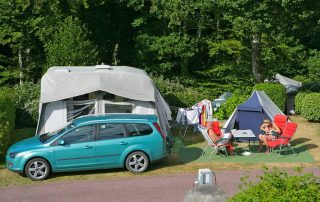 Camping pitch with electricity in La Manche