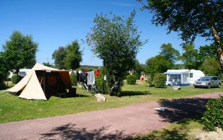 Low price camping pitch in Normandy