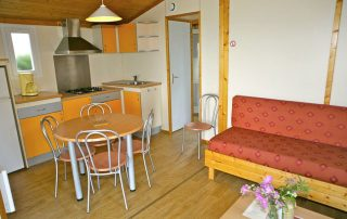 stay in chalet in Normandy