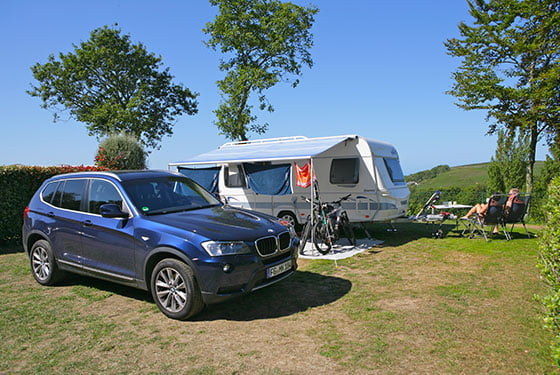 Campingplatz am Meer Normandie