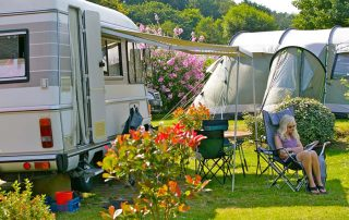 Emplacement touring camping nature