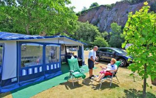 5 star camping pitch near the sea
