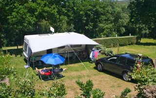 camping pitch for caravan Normandy