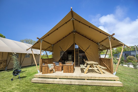 Glamping Lodge in der Normandie